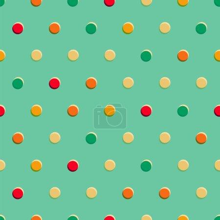 Ilustración de Retro lunares de patrones sin fisuras - Imagen libre de derechos