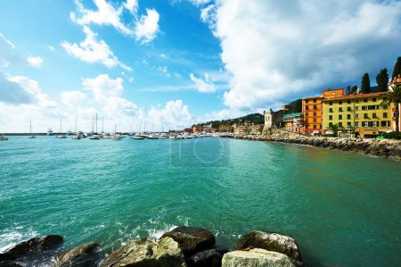 Ligurian coast in Italy