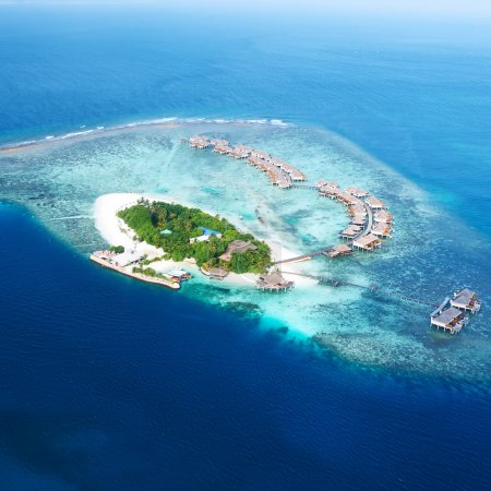 Atolls and islands in Maldives