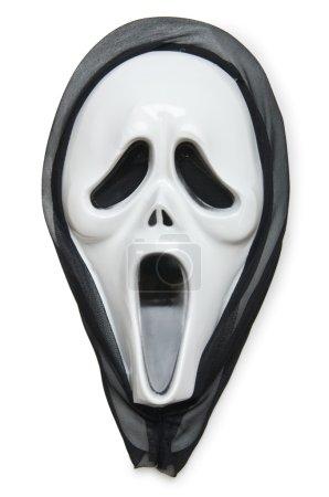 Photo pour Masque d'horreur isolé sur le blanc - image libre de droit