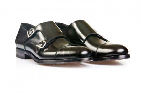 Photo for Fashion concept with male shoes on white - Royalty Free Image