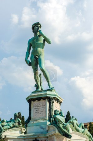 David statue at Michelangelo square in Florence Italy