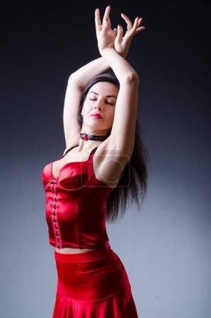 Photo for Female dancer dancing spanish dances - Royalty Free Image