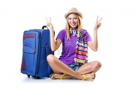 Photo for Attrative woman ready for summer vacation - Royalty Free Image