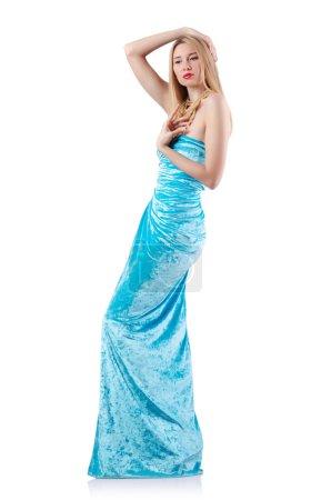 Photo pour Concept de mode avec grand modèle sur blanc - image libre de droit