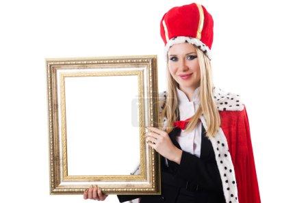 Photo pour Reine de la femme dans le concept drôle - image libre de droit