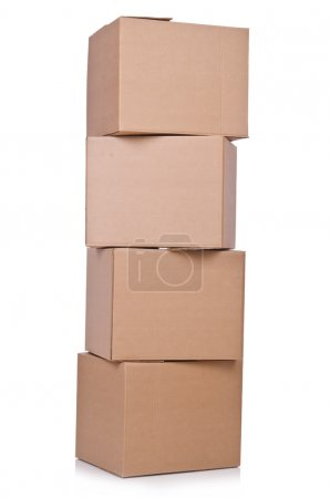 Photo for Carton boxes isolated on the white background - Royalty Free Image