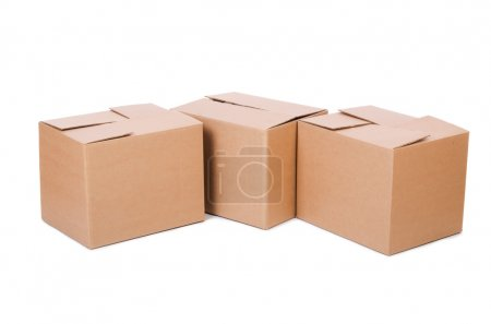 Photo for Set of boxes isolated on white - Royalty Free Image
