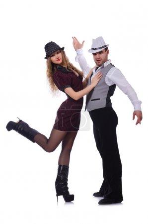 Photo for Pair of dancers dancing modern dances - Royalty Free Image
