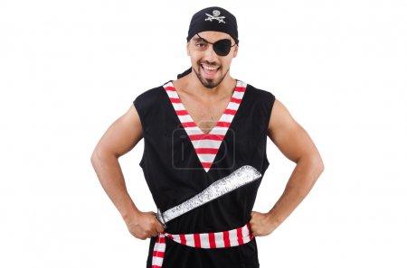 Photo pour Homme en costume de pirate dans le concept d'Halloween - image libre de droit