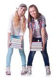 A fiatal diákok-fehér pár