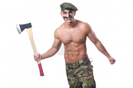 Soldier with axe