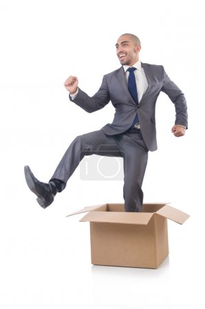 Businessman out of box