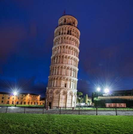 Tower of Pisa during evening hours