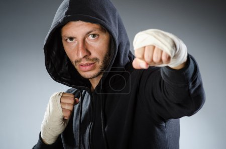 Photo for Martial arts fighter at the training - Royalty Free Image