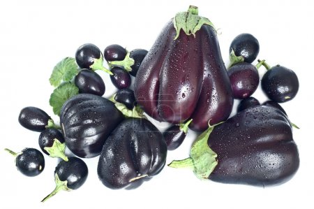Background with aubergines