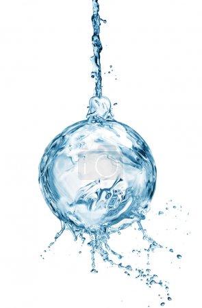 Christmas ball from water splash