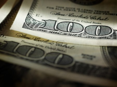 Photo for Background with money american hundred dollar bills - Royalty Free Image