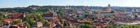 Vilnius, Lithuania: top view Vilnius panorama