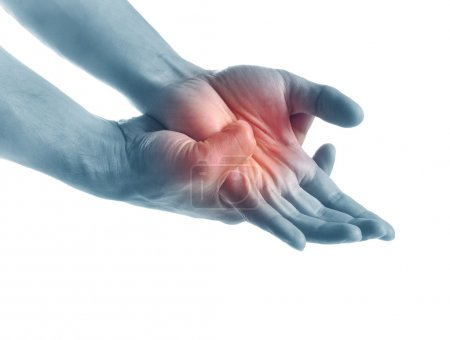 Acute pain in a hand