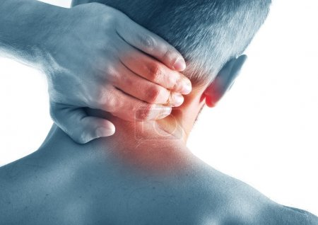 Man with acute neck pain
