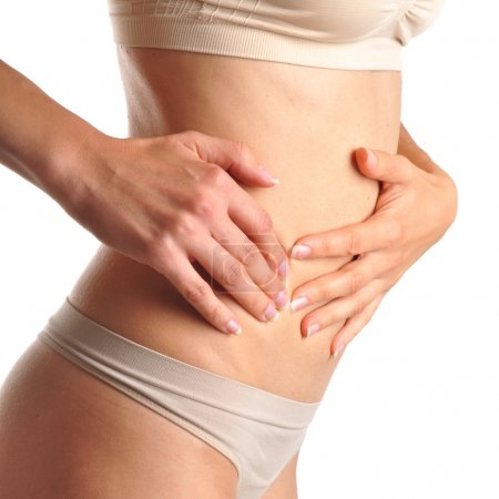 Pain in woman abdomen