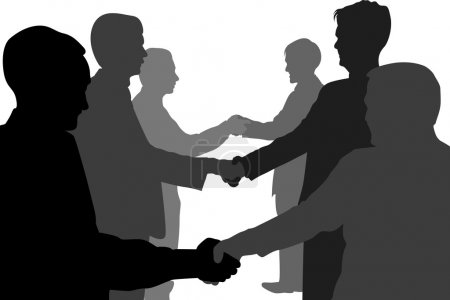 Photo for Shaking hands business partners vector - Royalty Free Image