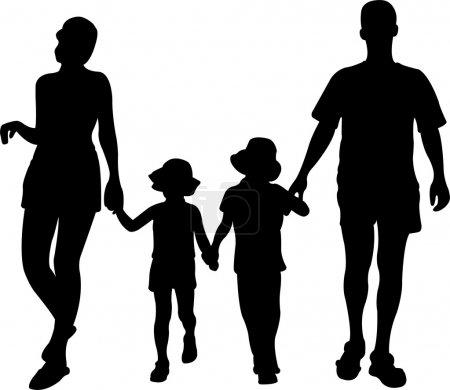 Family on resort vector