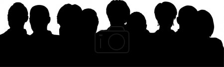 Photo for Heads silhouette - Royalty Free Image