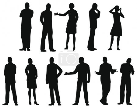 Businesspeople silhouette vector
