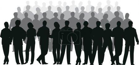 Illustration pour Vecteur de foule d'affaires - image libre de droit