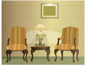 Chairs Hotel Lamp vector