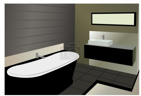 Illustration for Bathroom vector - Royalty Free Image