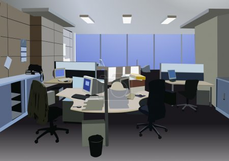 Illustration for Office vector - Royalty Free Image