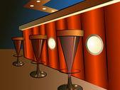 Bar interior vector