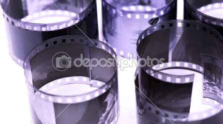 Rohlíky černobílý negativní film se točí na světlé plochy