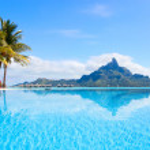 Beautiful view of Otemanu mountain on Bora Bora island