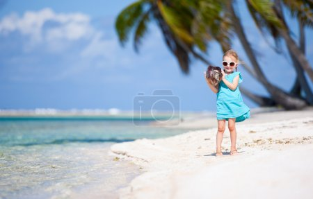 Little girl on a beach