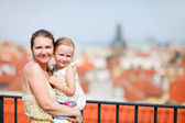 Mother and daughter in Prague