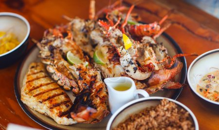 Photo for Close up of delicious grilled seafood platter - Royalty Free Image