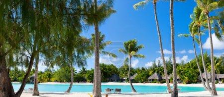 Beautiful beach on Bora Bora