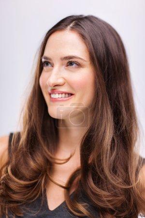 Beautiful young woman studio portrait
