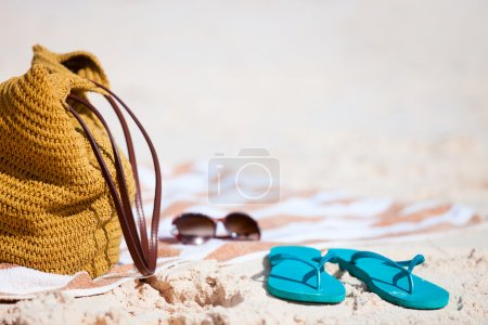 Beach vacation close up