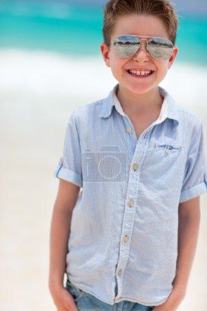 Happy boy on vacation