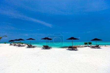 Idyllic tropical beach at Maldives