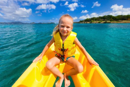 Little girl in kayak