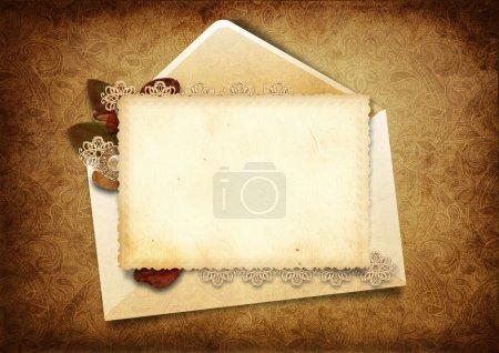 Photo pour Fond victorien avec carte postale élégante, avec espace pour la photo et le texte. album de famille - image libre de droit