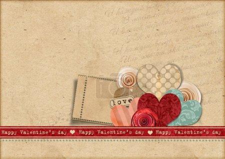 carte de Saint-Valentin heureuse day.retro