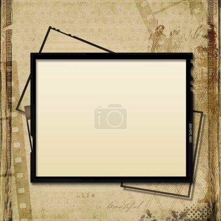 Photo pour Vintage fond minable avec cadre de film-bande - image libre de droit