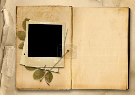 Vintage Photo Album with old photo-frame